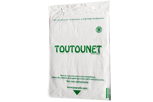 Carton de 5000 sacs TOUTOUNET® blanc