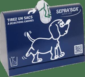 distributeur de sacs à déjections canines pour un comptoire ou un accueil de public