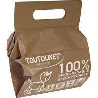 sac biodégradable pour déjection canine avec raclettes intégrées