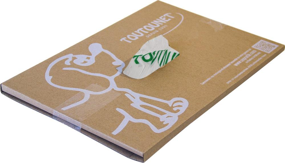 pochette d'envoi des sacs à déjections canines TOUTOUNET