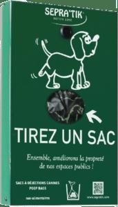 SEPRA'BUL distributeur de sacs à déjections canines par pincement en façade