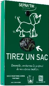 Distributeur de sacs à déjections canines à prise de sacs par pincement en façade : SEPRA'BUL modèle ROX