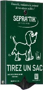 Distributeur de sacs à déjections canines SEPRA'TIK