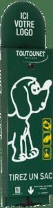 distributeur de sacs à déjections canines : l'original TOUTOUNET