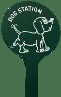 platine signalétique pour totem canins : message personnalisable