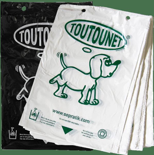 Carton de 5000 sacs TOUTOUNET® noirs ou blancs