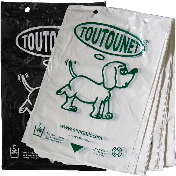 sacs TOUTOUNET AUTENTIQUE liasse de 100 sacs NOIRS ou BLANCS - carton de 5000 sacs
