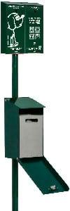 PERDITA-TOUTOUNET-ECO DUO distributeur de sacs à déjections canines en papier - COULEUR 6005