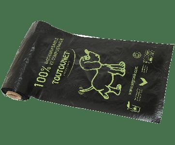 Rouleau de sac à déjections canines 100 % Biodégradable Home-Compost