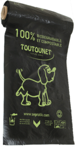 Rouleau de sac à déjections canines 100 % Biodégradable Home-Compost