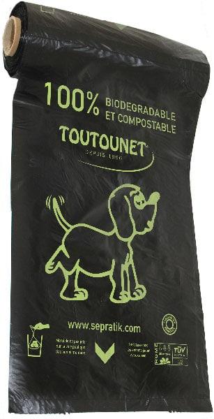 sacs TOUTOUNET BIO-Compost en bobines noirs - carton de 4000 sacs