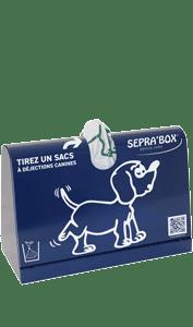 Distributeur de sacs à déjections canines à poser