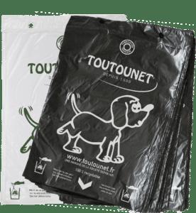 Le Classique TOUTOUNET : liasses de sacs à crottes de chien fabriqué en France