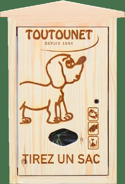 NOUVEAU DISTRIBUTEUR DE SACS à déjections canines FABRIQUE EN BOIS : Douglas